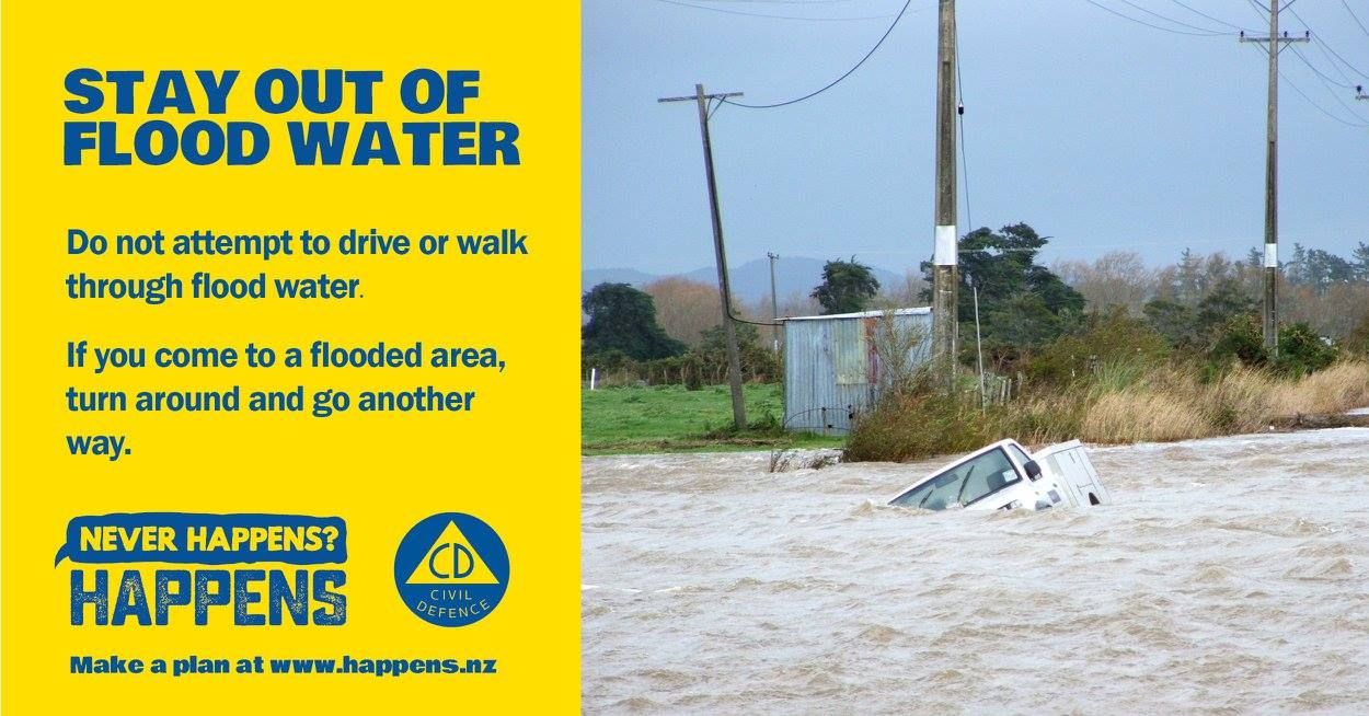 Dont drive in flood water