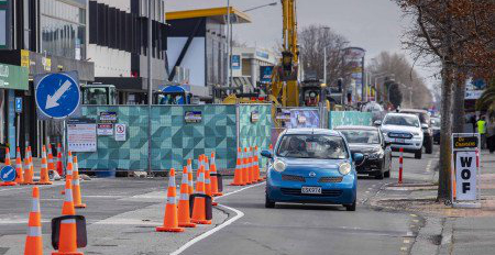 riccarton roadworks Sept2019